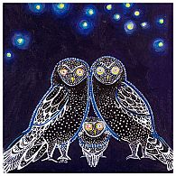 Wall Art - Owls At Night 14x14