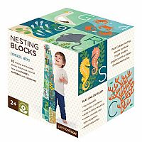 ABC Nesting Blocks - Ocean