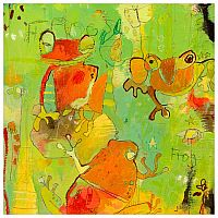 Wall Art - Hello Frogs 10x10