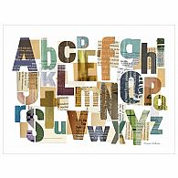 Wall Art - Alphabet Collage 24x18