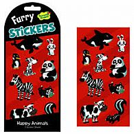 Black & White Animals Furry Stickers