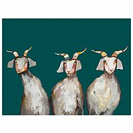 Wall Art - Trio of Goats 18x14