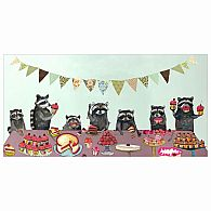 Wall Art - Cupcake Party Raccoon 24x12