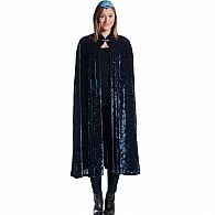 Crushed Velvet Adult Cape Blue