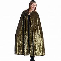 Crushed Velvet Adult Cape Green