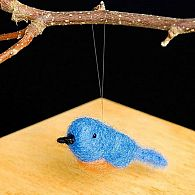 Needle Felting Kit Blue Bird