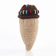 Chocolate Ice Cream Cone Rattle