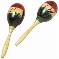 Tri-Color Wood Maracas
