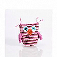 Pink Owl Rattle
