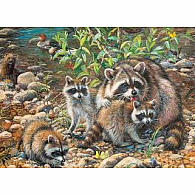 350 pc Family Puzzle Raccoon Family