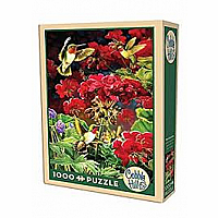 1000 pc Ruby Geraniums