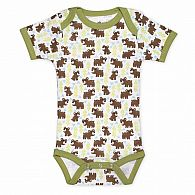 Snow Bear Short Sleeve Onesie 3-6 months
