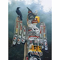 1000 pc Totem Pole in the Mist