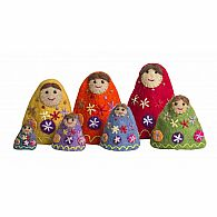 Stackable Rainbow Babushkas