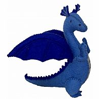 Felt Blue Dragon