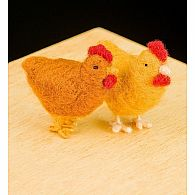 Needle Felting Kit Chickens