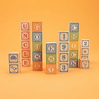 Alphabet Blocks, embossed