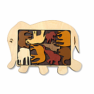 Wooden Puzzle Elephant Parade