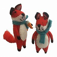 Felt Fox with Scarf