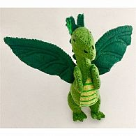 Felt Green Dragon