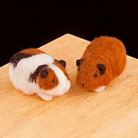 Needle Felting Kit Guinea Pigs