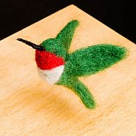 Hummingbird needle Felting Kit
