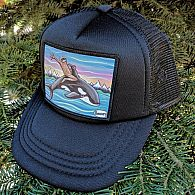 Henry Sasquatch Orca Riding Kids Hat