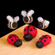 Needle Felting Kit Ladybugs and Bees