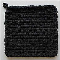 Cotton Potholder Loops Black
