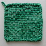 Cotton Potholder Loops Green