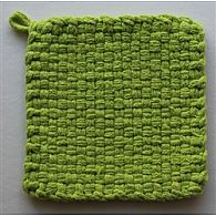 Cotton Potholder Loops Lime