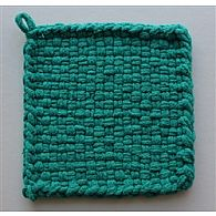 Cotton Potholder Loops Peacock