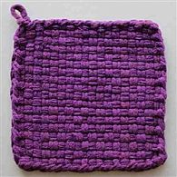 Cotton Potholder Loops Plum