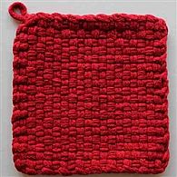 Cotton Potholder Loops Red