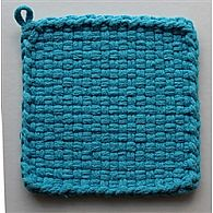 Cotton Potholder Loops Turquoise