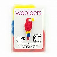 Needle Felting Kit Macaw Pin