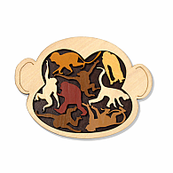 Wood Puzzle Monkey Madness