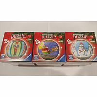 Holiday Puzzle Ball Ornament Set 2017