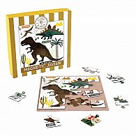 25 pc Magnetic Jigsaw Dinosaur